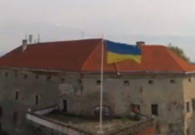 Мукачівський замок Паланок з висоти пташиного польоту (відео)