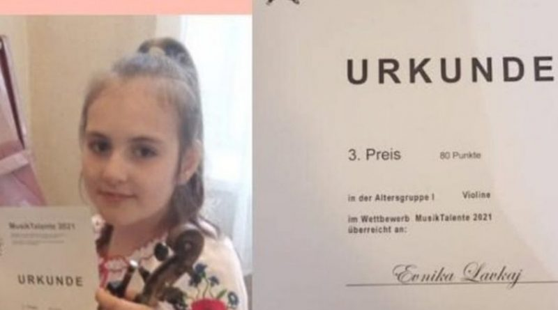 Скрипачка з Мукачева здобула бронзу на міжнародному конкурсі «Musik Talente 2021»