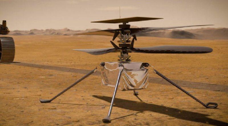 Політ гелікоптера NASA на Марсі показали у 3D (відео)