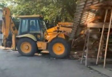 Як знищували речовий ринок у Тячеві (відео)